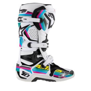Kit Deco Bottes Alpinestars Tech 10 (2014) Noir Cyan Mag Vert L/XXL