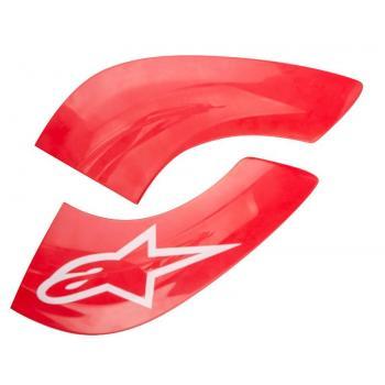 Plaques frontales BNS Tech Carbon Rouge