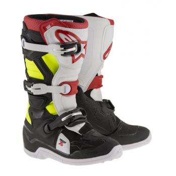 Bottes Enfants Alpinestars Tech 7S Black Red Yellow 2 (34)