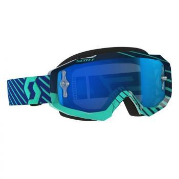 Masque Scott Hustle MX Blue Teal / Electric Blue Chrome Works