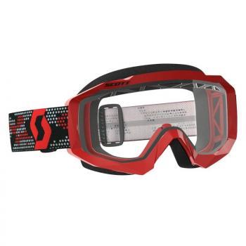 Masque Scott Hustle MX Enduro Red Black Clear Works