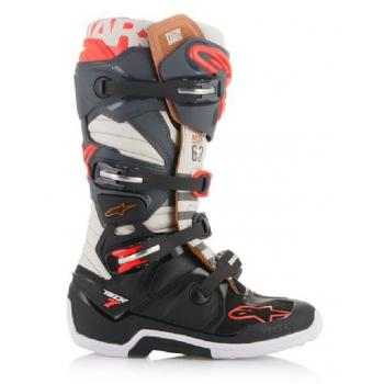 Bottes Alpinestars Tech 7 Blackjack Gray Black Red Fluo 11 (45.5)
