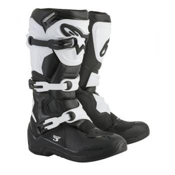 Bottes Alpinestars Tech 3 Black/White 7 (40.5)