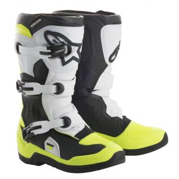 Bottes Enfants Alpinestars Tech 3S Black/ White/ Yellow Fluo 3 (35.5)