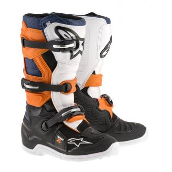 Bottes Enfants Alpinestars Tech 7S Black/ Orange/ White/ Blue 8 (42)
