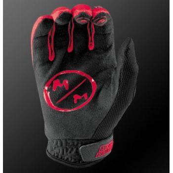 Gants MSR Metal Mulisha Optic Black Red M-2