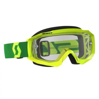 Masque Scott Hustle MX Yellow/Green/CLear Works