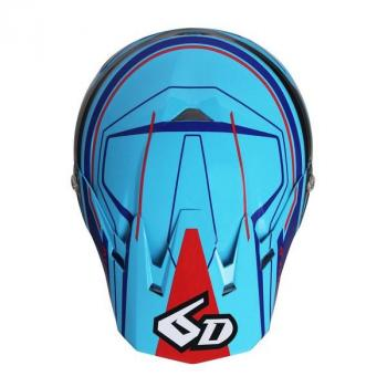 Casque 6D ATR-2 Circuit Neon Blue XS-4