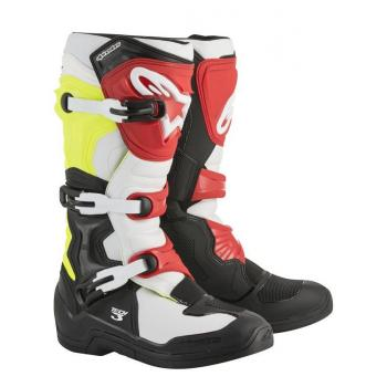 Bottes Alpinestars Tech 3 Black/White/Yellow/Red 11 (45.5)