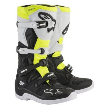 Bottes Alpinestars Tech 5 Black/White/Yellow Fluo 11 (45.5)