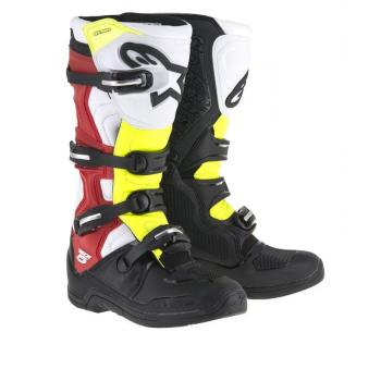 Bottes Alpinestars Tech 5 Black White Red Yellow 7 (40.5)