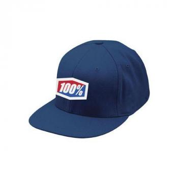 "Casquette 100% ""icon\"" 210 fitted hat navy L/XL"