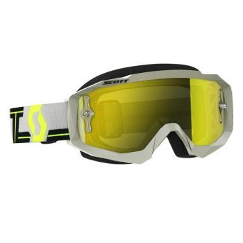 Masque Scott Hustle MX Grey Yellow / Yellow Chrome Works
