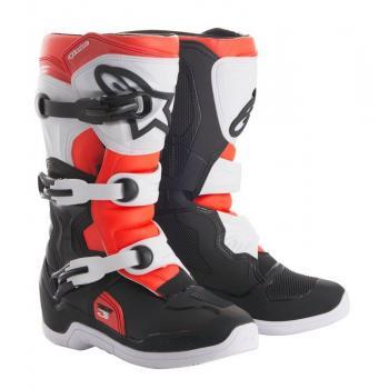 Bottes Enfants Alpinestars Tech 3S Black/ White/ Red Fluo 7 (40.5)