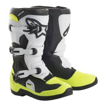 Bottes Enfants Alpinestars Tech 3S Black/ White/ Yellow Fluo 5 (38)