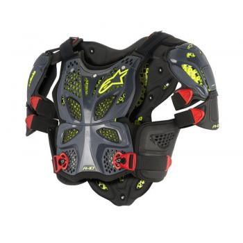 Pare Pierre Alpinestars A10 FULL Chest Protector Anth Black Red XS/S