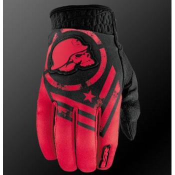 Gants MSR Metal Mulisha Optic Black Red S