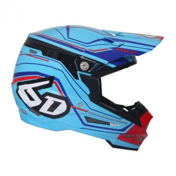 Casque 6D ATR-2 Circuit Neon Blue S-2