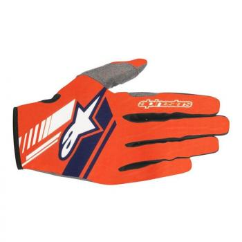 Gants Alpinestars Neo Orange Fluo Dark Blue S