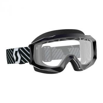 Masque Scott Hustle MX Enduro Black White Clear Works