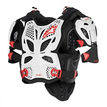 Pare Pierre Alpinestars A10 FULL Chest Protector White M/L