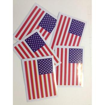 Dealer Packs stickers USA Flag (x5) 76x50mm