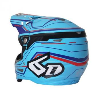 Casque 6D ATR-2 Circuit Neon Blue M-3