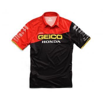 Pit Shirt 100% Geico/Honda Team Black S