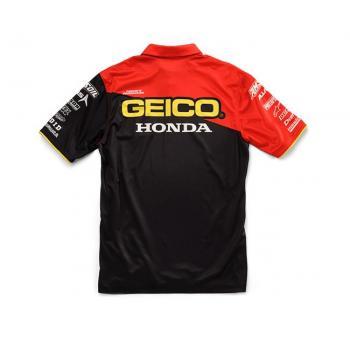 Pit Shirt 100% Geico/Honda Team Black S-2