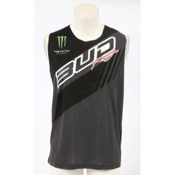 Debardeur girl Team Bud Racing 17 Black/Heather charcoal S-2