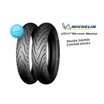 Pack de 2 pneus Sport-Touring MICHELIN PILOT STREET RADIAL (120/70ZR17 - 180/55ZR17)