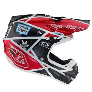 Casque TroyLeeDesign SE4 Carbon metric black/red helmets