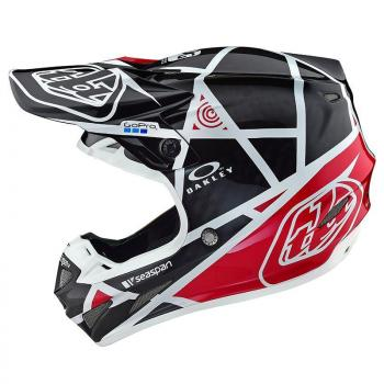 Casque TroyLeeDesign SE4 Carbon metric black/red helmets-2