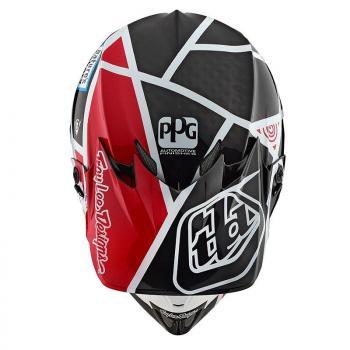 Casque TroyLeeDesign SE4 Carbon metric black/red helmets-3