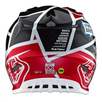 Casque TroyLeeDesign SE4 Carbon metric black/red helmets-4