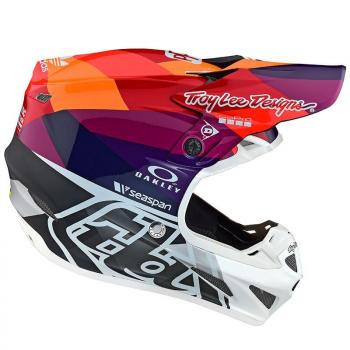 Casque TroyLeeDesigns SE4 Composite Jet red/yellow helmets