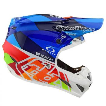 Casque TroyLeeDesigns SE4 Composite Jet navy/orange helmets