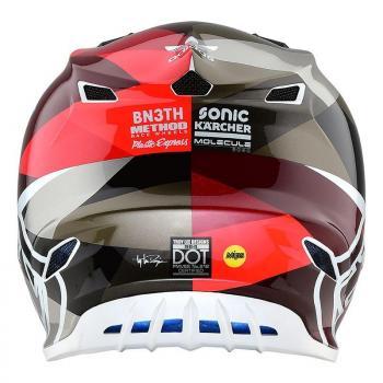 Casque TroyLeeDesigns SE4 Polyacrylite Jet orange/grey helmets-4