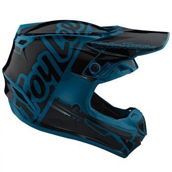Casque TroyLeeDesigns SE4 Polyacrylite Factory ocean helmets