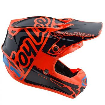 Casque TroyLeeDesigns SE4 Polyacrylite Factory orange