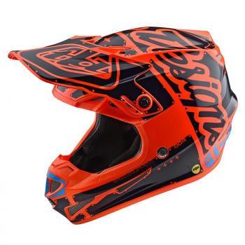 Casque TroyLeeDesigns SE4 Polyacrylite Factory orange-2