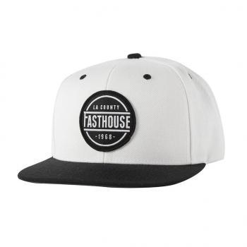 FASTHOUSE HAT LA COUNTY WHITE BLACK BILL