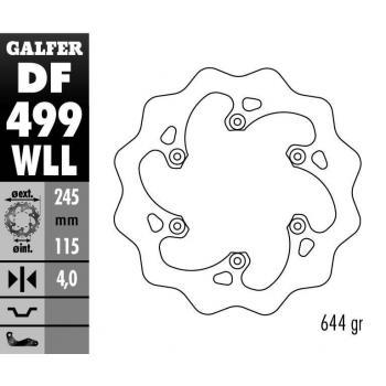 """DISQUE GALFER WAVE FIXE """"ENDURO"""" 243,5X4MM"""