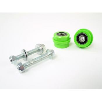 TMD chain roller set Kawasaki KX(F) green