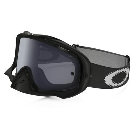 Masque OAKLEY Crowbar Sand Jet Black écran Dark Grey + transparent