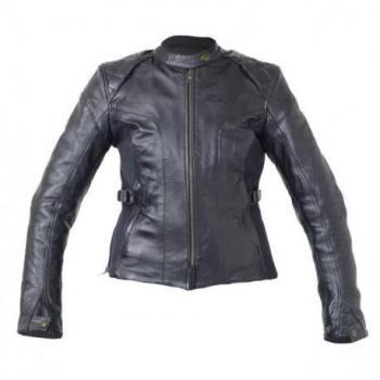 Veste RST Ladies Kate cuir été noir taille XXL femme