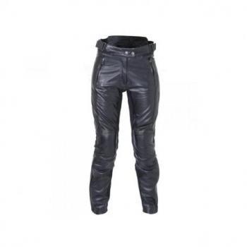 Pantalon RST Ladies Kate cuir été noir taille S femme