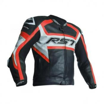 Veste RST Tractech Evo R CE cuir rouge fluo taille L homme