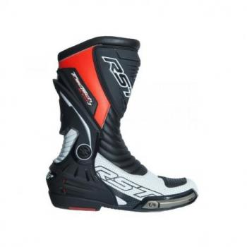 Bottes RST TracTech Evo 3 CE cuir rouge fluo 45 homme