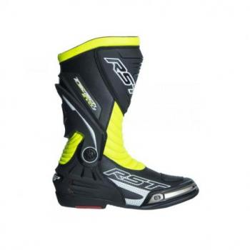 Bottes RST TracTech Evo 3 CE cuir jaune fluo 43 homme